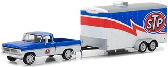 """1:64 Hitch & Tow Series 12 - 1970 Ford F-100 w/Racing Trailer """"STP"""""""