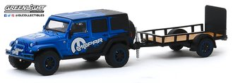 1:64 Hitch & Tow Series 19 - 2012 Jeep Wrangler Unlimited MOPAR Off-Road Edition w/Utility Trailer