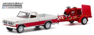 1:64 Hitch & Tow Series 20 - 1972 Ford F-100 & Utility Trailer w/1920 Indian Scout Motorcycle
