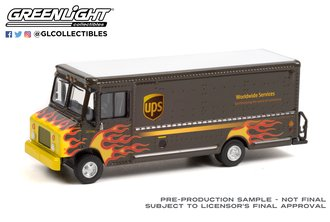 """1:64 H.D. Trucks Series 21 - 2019 Package Car """"United Parcel Service Worldwide Services"""" w/Flames"""