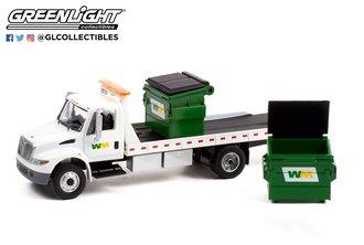 "1:64 2013 International DuraStar Flatbed ""Waste Management"" w/Commercial Dumpsters"