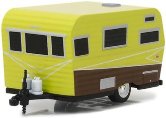 1:64 Hitched Homes Series 3 - 1958 Siesta (Yellow/Brown)