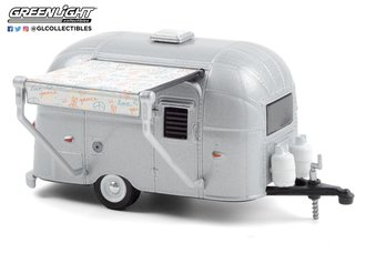 1:64 Hitched Homes Series 9 - Airstream 16' Bambi w/Peace and Love Awning