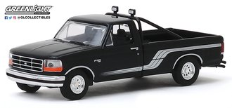 1:64 All-Terrain Series 9 - 1992 Ford F-150 4x4 Pickup (Raven Black w/Silver Stripes)
