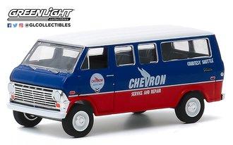"1:64 Blue Collar Collection Series 7 - 1970 Ford Club Wagon ""Chevron Service Courtesy Shuttle"""