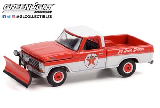 1:64 Blue Collar Collection Series 9 - 1968 Ford F-250 with Snow Plow - Texaco Service