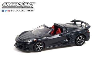 1:64 2020 Chevy Corvette C8 Stingray (Lot #3002) - Shadow Gray Metallic w/Adrenaline Red Interior
