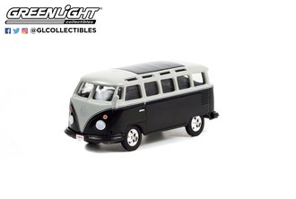 1:64 1962 Volkswagen Type 2 (T1) Custom Bus (Black/Silver w/Black Interior) (Lot #1426)