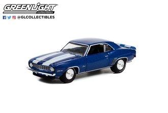 1:64 1969 Chevrolet Camaro Z/28 (Dusk Blue w/White Stripes) (Lot #687.3)