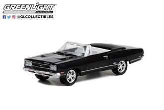 1:64 1969 Plymouth GTX Convertible (Black w/White Interior) (Lot #1370.1)