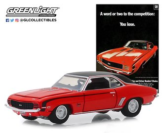 """1:64 Vintage Ad Cars Series 1-1969 Chevrolet Camaro SS """"A Word Or Two To The Competition: You Lose."""""""
