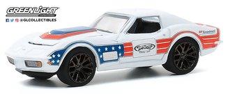"""1:64 Detroit Speed, Inc. Series 1 - 1972 Chevrolet Corvette """"BFGoodrich"""" (Red/White/Blue)"""