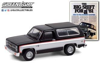 "1:64 Vintage Ad Cars Series 4 - 1981 Chevrolet K5 Blazer ""The Big Shift For '81"""