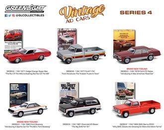 1:64 Vintage Ad Cars Series 4 (Set of 6)
