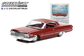 """1:64 1963 Chevrolet Impala Sport Coupe """"There's No Smoother, More Comfortable Way To Get There!"""""""