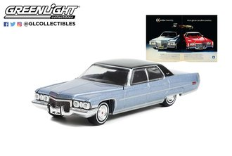 """1:64 1972 Cadillac DeVille Sedan """"Cadillac for 1972. One Great Car After Another"""""""