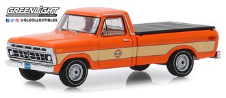 "1:64 Running on Empty Series 9 - 1976 Ford F-100 with Bed Cover ""Gulf Oil"""