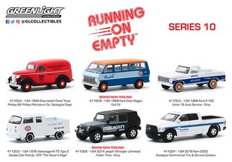 1:64 Running on Empty Series 10 (Set of 6)