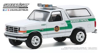 "1:64 Hot Pursuit Series 35 - 1993 Ford Bronco ""U.S. Customs & Border Protection Border Patrol"""