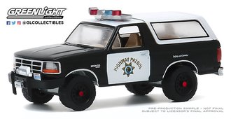 "1:64 Hot Pursuit Series 35 - 1995 Ford Bronco ""California Highway Patrol"""