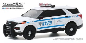 "1:64 2020 Ford Police Interceptor Utility ""New York City Police Dept (NYPD)"""