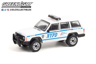 1:64 Hot Pursuit Series 38 - 1997 Jeep Cherokee - New York City Police Dept (NYPD)
