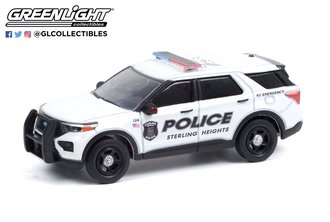 1:64 Hot Pursuit Series 38 - 2020 Ford Police Interceptor Utility - Sterling Heights, Michigan