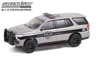 1:64 2021 Chevrolet Tahoe Police Pursuit Vehicle (PPV) - General Motors Fleet - Satin Steel Metallic