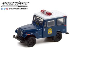 "1:64 Hot Pursuit Series 40 - 1974 Jeep DJ-5 ""Indianapolis Metropolitan Police Dept."""