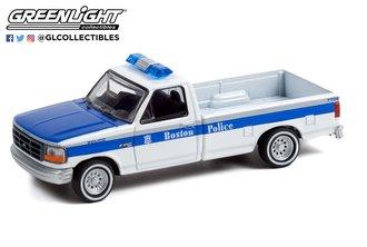 "1:64 Hot Pursuit Series 40 - 1995 Ford F-250 Pickup Truck ""Boston Police Department - Boston, MA"""