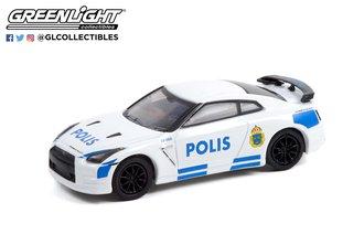"""1:64 Hot Pursuit Series 40 - 2014 Nissan GT-R (R35) """"Stockholm, Sweden Polis"""""""
