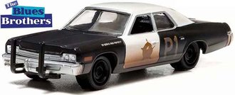 1:64 The Blues Brothers (1980) - 1974 Dodge Monaco (Black/White)
