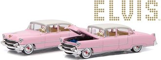 1:64 Hollywood Series 14 - Elvis Presley (1935-77) - 1955 Cadillac Fleetwood Series 60 (Pink)
