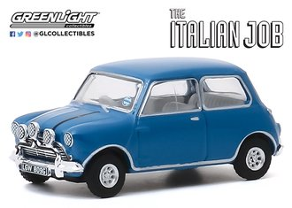 1:64 Hollywood Series 28 - The Italian Job (1969) - 1967 Austin Mini Cooper S 1275 MkI (Blue)