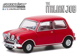 1:64 Hollywood Series 28 - The Italian Job (1969) - 1967 Austin Mini Cooper S 1275 MkI (Red)