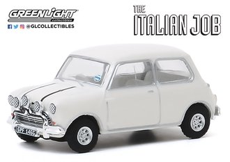 1:64 Hollywood Series 28 - The Italian Job (1969) - 1967 Austin Mini Cooper S 1275 MkI (White)
