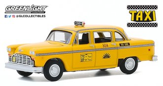 1:64 Hollywood Series 29 - Taxi (1978-83 TV Series) 1974 Checker Taxi Sunshine Cab Company #804