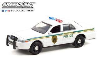 "1:64 Hollywood Series 32 - Dexter (2006-13 TV Series) - 2001 Ford CV PI ""Miami Metro Police Dept"""