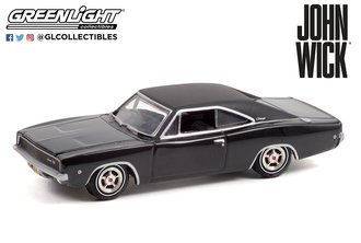 1:64 Hollywood Series 33 - John Wick (2014) - 1968 Dodge Charger R/T
