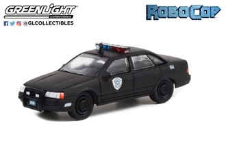 1:64 Hollywood Series 34 - RoboCop (1987) - 1986 Ford Taurus LX - Detroit Metro West Police