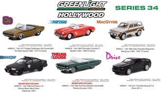 1:64 Hollywood Series 34 (Set of 6)