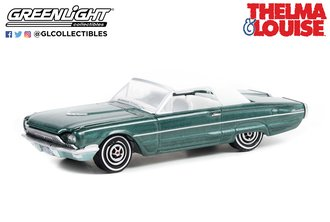 1:64 Hollywood Special Edition - Thelma & Louise (1991) - 1966 Ford Thunderbird Convertible (Top-Up)