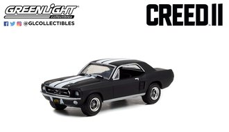 1:64 Creed II (2018) - Adonis Creed's 1967 Ford Mustang Coupe - Black w/White Stripe