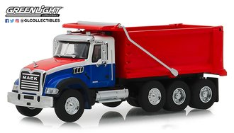 1:64 S.D. Trucks Series 6 - 2019 Mack Granite Drump Truck (Red/White/Blue)