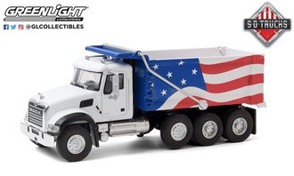 1:64 S.D. Trucks Series 11 - 2019 Mack Granite Dump Truck (Red/White/Blue)