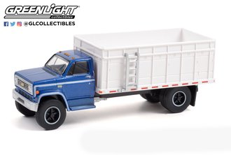 1:64 S.D. Trucks Series 13 - 1980 Chevrolet C-70 Grain Truck - Blue Poly Cab with White Bed