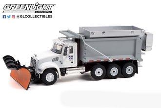"1:64 S.D. Trucks Series 13 - 2019 Mack Granite Dump Truck w/Snow Plow & Spreader ""Indianapolis P.W."""