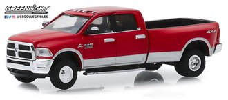 1:64 Dually Drivers Series 2 - 2018 RAM 3500 Dually Harvest Edition Pickup (Red/Silver)
