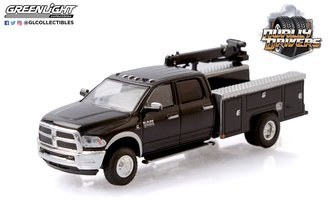1:64 Dually Drivers Series 5 - 2018 RAM 3500 Dually Crane Truck (Brilliant Black)