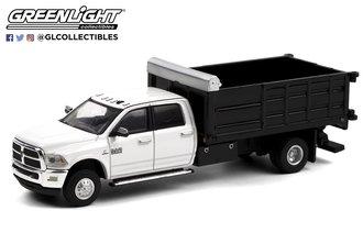 1:64 Dually Drivers Series 6 - 2018 RAM 3500 Dually Landscaper Dump Truck (Bright White)
